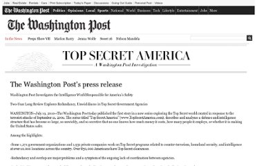 http://projects.washingtonpost.com/top-secret-america/articles/washington-posts-press-release/print/