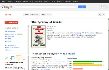 http://books.google.co.uk/books/about/The_Tyranny_of_Words.html?id=pTXfGAAACAAJ