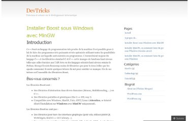 http://devtricks.wordpress.com/installer-boost-sous-windows-avec-mingw/