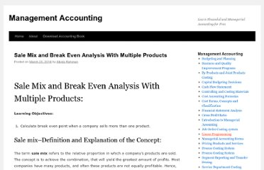 http://accounting4management.com/concept_of_sales_mix.htm