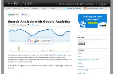 http://sixrevisions.com/website-management/search-analysis-with-google-analytics/