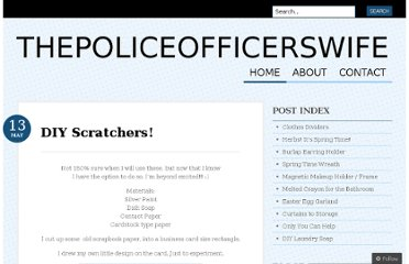 http://thepoliceofficerswife.wordpress.com/2011/05/13/diy-scratchers/