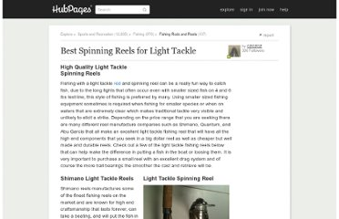 http://czczcz.hubpages.com/hub/Best-Spinning-Reels-for-Light-Tackle