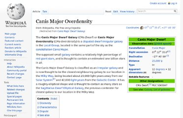 http://en.wikipedia.org/wiki/Canis_Major_Dwarf_Galaxy