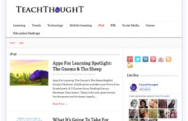 http://www.teachthought.com/category/ipad-2/