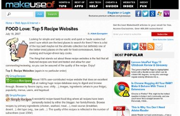 http://www.makeuseof.com/tag/food-love-top-5-recipe-websites/