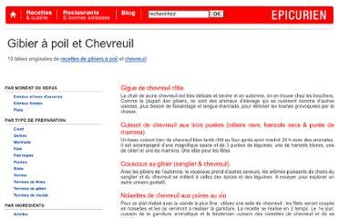 Gibier pearltrees - Comment cuisiner une gigue de chevreuil ...