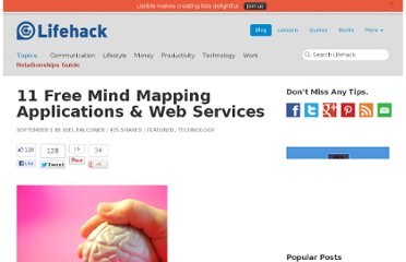 http://www.lifehack.org/articles/technology/11-free-mind-mapping-applications-web-services.html