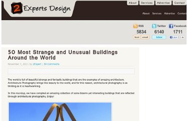 http://www.2expertsdesign.com/inspiration/50-most-strange-and-unusual-buildings-around-the-world