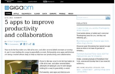 http://gigaom.com/2011/07/21/5-apps-to-improve-productivity-and-collaboration/