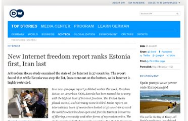 http://www.dw.de/new-internet-freedom-report-ranks-estonia-first-iran-last/a-15021424-1