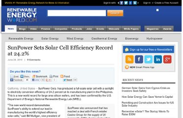 http://www.renewableenergyworld.com/rea/news/article/2010/06/sunpower-sets-solar-cell-efficiency-record-at-24-2