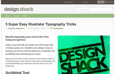 http://designshack.net/articles/graphics/5-super-easy-illustrator-typography-tricks/