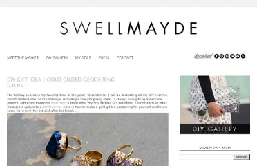 http://www.swellmayde.com/2012/11/diy-gift-idea-gold-gilded-geode-ring.html