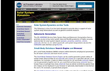 http://ssd.jpl.nasa.gov/?tools