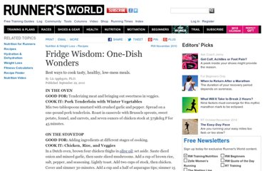http://www.runnersworld.com/recipes/fridge-wisdom-one-dish-wonders