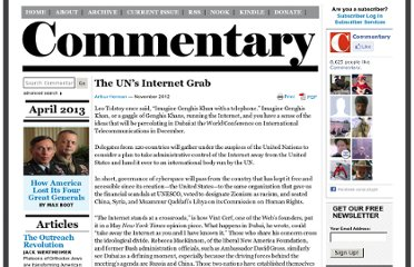 http://www.commentarymagazine.com/article/the-uns-internet-grab/
