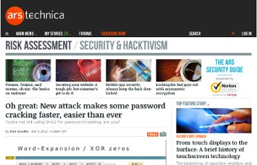 http://arstechnica.com/security/2012/12/oh-great-new-attack-makes-some-password-cracking-faster-easier-than-ever/