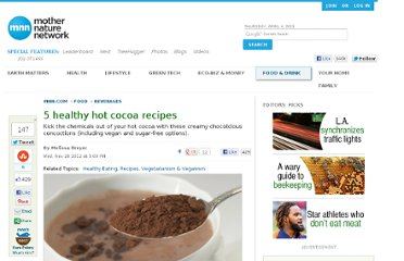 http://www.mnn.com/food/beverages/stories/5-healthy-hot-cocoa-recipes
