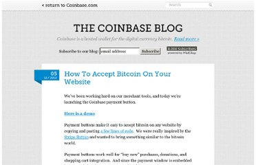 http://blog.coinbase.com/post/37274999622/how-to-accept-bitcoin-on-your-website