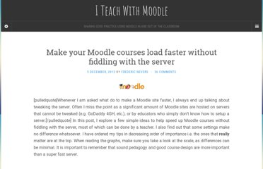 http://www.iteachwithmoodle.com/2012/12/05/make-your-moodle-courses-faster-without-fiddling-with-the-server/