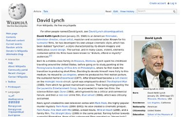 http://en.wikipedia.org/wiki/David_Lynch