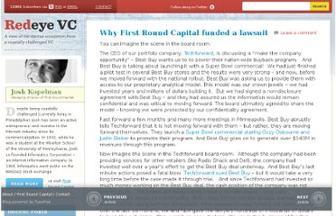 http://redeye.firstround.com/2012/12/why-first-round-capital-funded-a-lawsuit.html