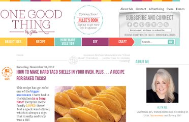 http://www.onegoodthingbyjillee.com/2012/11/how-to-make-hard-taco-shells-in-your-ovenplus-a-recipe-for-baked-tacos.html