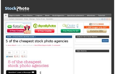 http://www.stockphotosecrets.com/buyers-guide/5-of-the-cheapest-stock-photo-agencies.html