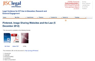 http://www.jisclegal.ac.uk/ManageContent/ViewDetail/ID/2705/Pinterest-Image-Sharing-Websites-and-the-Law-5-December-2012.aspx