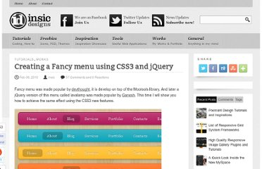 http://blog.insicdesigns.com/2010/02/creating-a-fancy-menu-using-css3-and-jquery/