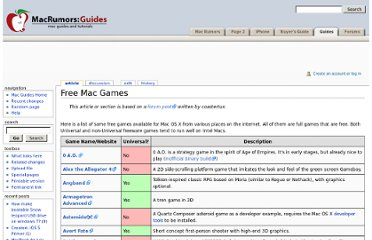 http://guides.macrumors.com/Free_Mac_Games