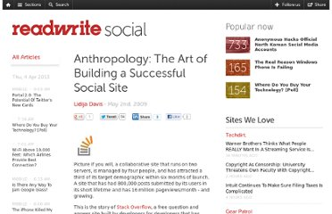 http://readwrite.com/2009/05/02/anthropology_the_art_of_building_a_successful_soci