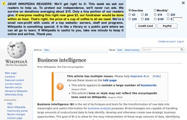 http://en.wikipedia.org/wiki/Business_intelligence