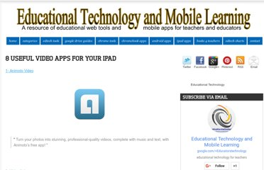http://www.educatorstechnology.com/2012/12/8-useful-video-apps-for-your-ipad.html
