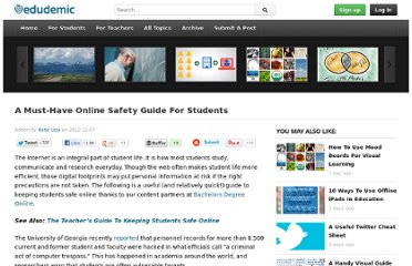 http://edudemic.com/2012/12/a-must-have-online-safety-guide-for-students/