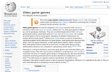 http://en.wikipedia.org/wiki/Video_game_genres
