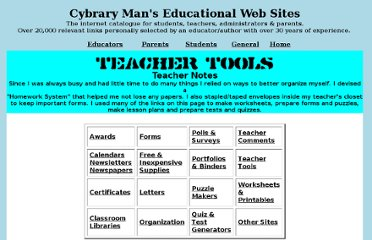 http://cybraryman.com/teachertools.html