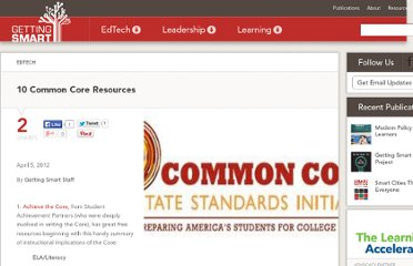 http://gettingsmart.com/cms/edreformer/10-common-core-resources/