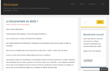 http://abourayan2012.wordpress.com/2012/11/30/le-documentaire-du-siecle/