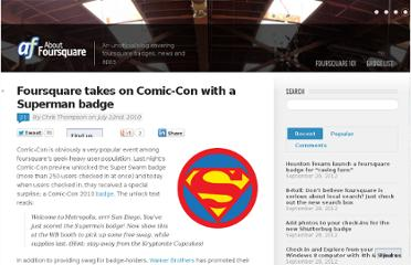 http://aboutfoursquare.com/foursquare-takes-on-comic-con-with-a-superman-badge/