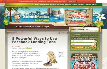 http://www.socialmediaexaminer.com/8-powerful-ways-to-use-facebook-landing-tabs/