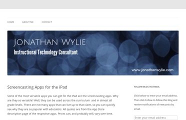 http://jonathanwylie.com/screencasting-apps-for-the-ipad/