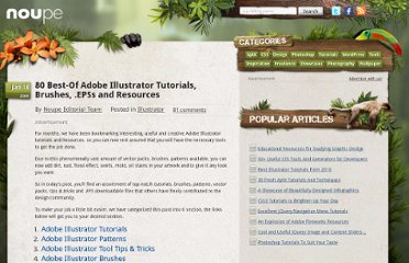 http://www.noupe.com/illustrator/80-best-of-adobe-illustrator-tutorials-brushes-epss-and-resources.html