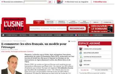 http://www.usinenouvelle.com/article/e-commerce-les-sites-francais-un-modele-pour-l-etranger.N132727