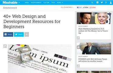http://mashable.com/2010/07/23/web-design-resources-beginners/