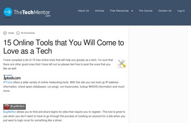 http://www.thetechmentor.com/posts/15-online-tools-you-will-come-love-tech/
