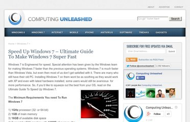 http://www.computingunleashed.com/speed-up-windows-7-ultimate-guide-to.html