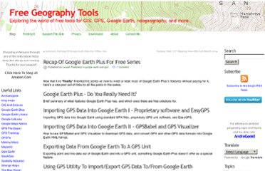 http://freegeographytools.com/2007/recap-of-google-earth-plus-for-free-series