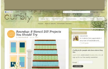 http://www.curbly.com/m/13947-roundup-8-stencil-diy-projects-you-should-try